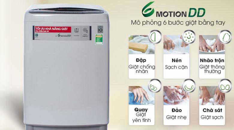 6 chuyển động - Máy giặt LG Inverter 10 kg T2310DSAM