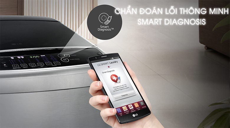 Smart Diagnosis - Máy giặt LG Inverter 10 kg T2310DSAM