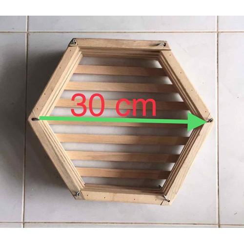 Chậu gỗ lục giác 30 cm gỗ soài nga dành trồng hoa lan