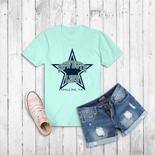 Áo thun nữ in hình ngôi sao cowboys life