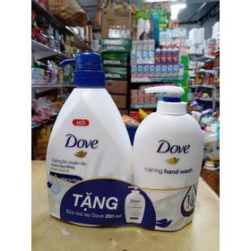Sữa tắm Dove dưỡng ẩm 530g tặng nước rửa tay 250ml - ST Dove 530g km