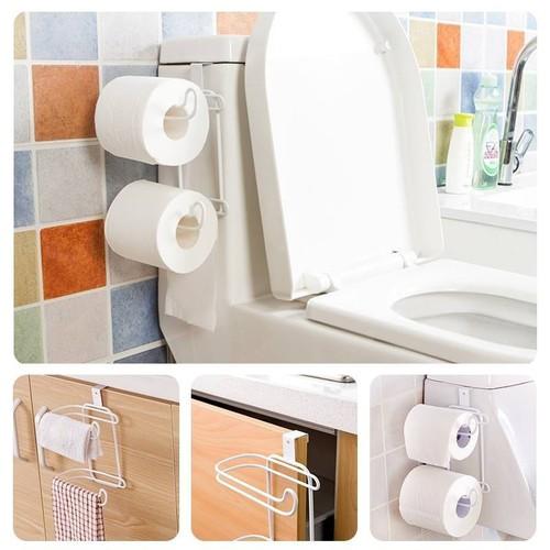 Móc treo đồ đa năng nhà bếp - giá treo giấy vệ sinh dạng cài cửa