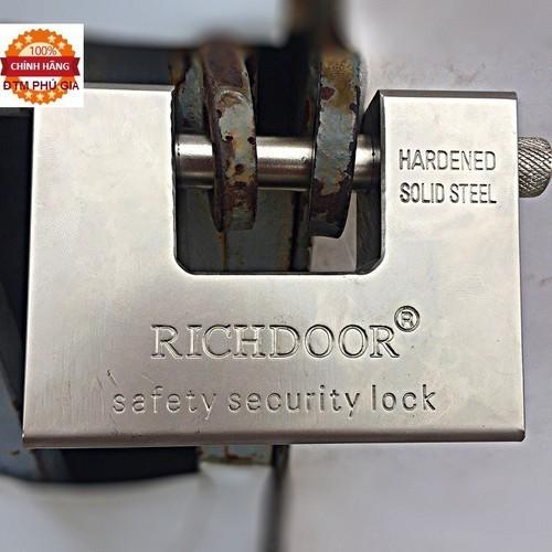 Ổ khóa cổng cầu ngang thép nguyên khối 5 chìa siêu nặng