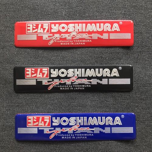 Tem nhôm logo trang trí xe chữ yoshimura 3 màu tạo điểm nhấn cho mọi loại xe