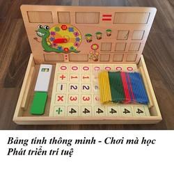 hộp que tính, hộp số đếm, học xem giờ qua đồ chơi