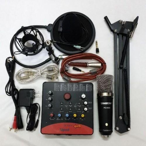 Combo livestream thu âm karaoke micro takstar pc k600 icon pro chân màng lọc bh 6 tháng