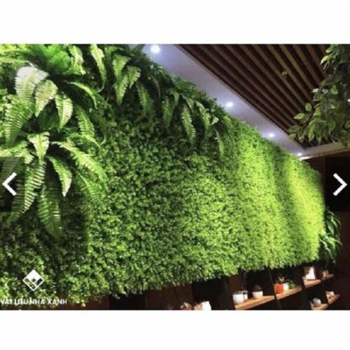 Thảm cỏ trang trí - thảm nhựa gắn tường kt 40x60 cm