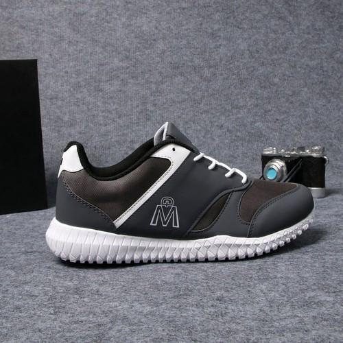 Giày sneaker nam xám đậm đế trắng mđ đẹp g411 muidoi