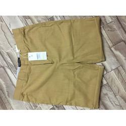 Quần short vải đũi cao cấp phong cách trẻ trung màu vàng