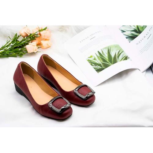Salla – giày đế xuồng da bò 3cm đính khóa xoàn màu đỏ - 12550168 , 20367933 , 15_20367933 , 455000 , Salla-giay-de-xuong-da-bo-3cm-dinh-khoa-xoan-mau-do-15_20367933 , sendo.vn , Salla – giày đế xuồng da bò 3cm đính khóa xoàn màu đỏ