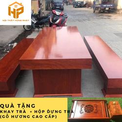Bộ bàn ghế hộp K3 gỗ xoan đào