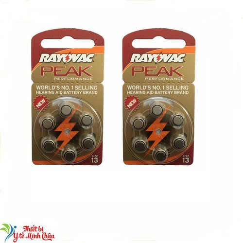 Combo 12 viên pin máy trợ thính pr48 rayovac, pin ag5, pin a13 1 vỉ 6 viên