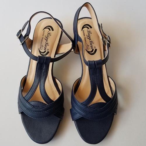Sandal nữ cao gót quai hậu da bò thời trang - jz1760