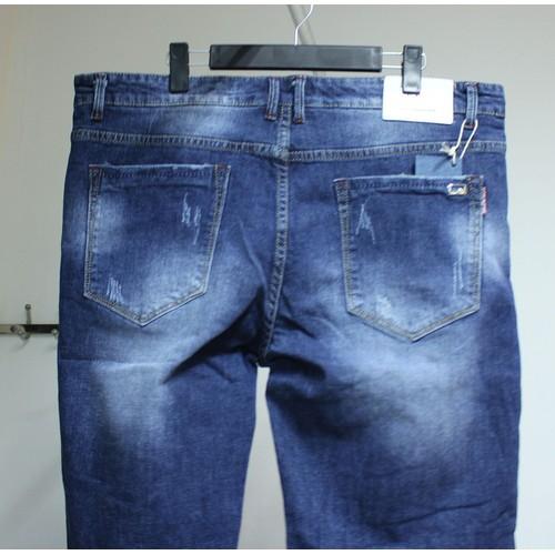 Quần shorts jeans nam màu xanh