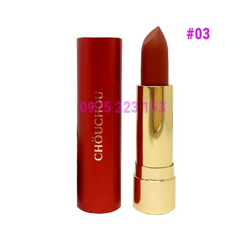 Son lì chou chou red limited edition 03 marsala - đỏ gạch
