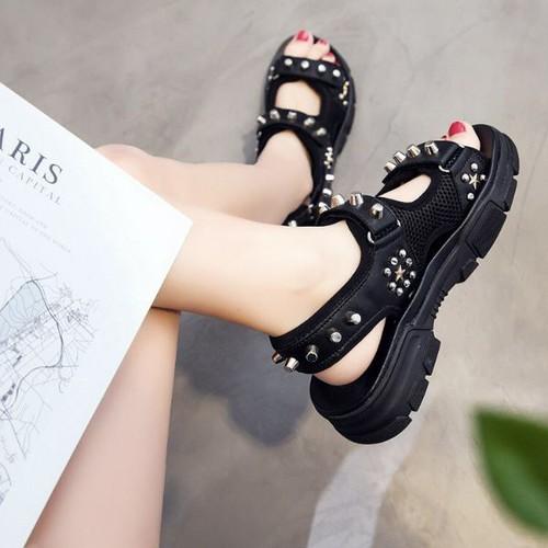 Giày sandal bánh mì phối đinh tán - 12560962 , 20382282 , 15_20382282 , 300000 , Giay-sandal-banh-mi-phoi-dinh-tan-15_20382282 , sendo.vn , Giày sandal bánh mì phối đinh tán