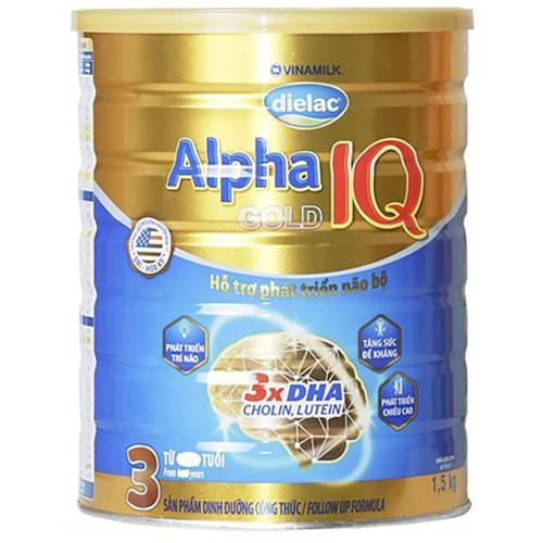 Chính hãng  sữa bột vinamilk dielac alpha gold iq 3 - hộp 1,5kg