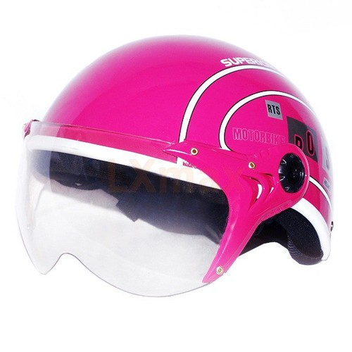 Mũ bảo hiểm spo cao cấp hồng  - spo hồng