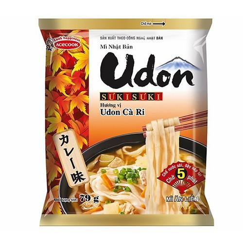 Combo 10 gói mì udon nhật bản hương vị cà ri gói 79g