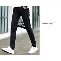 Quần kaki nam phong cách Hàn Quốc trẻ trung màu đen