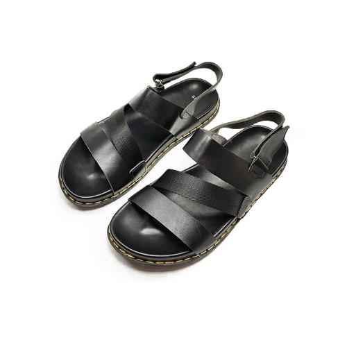 Sandal nam da bò thật siêu bền êm chân vnxk de39