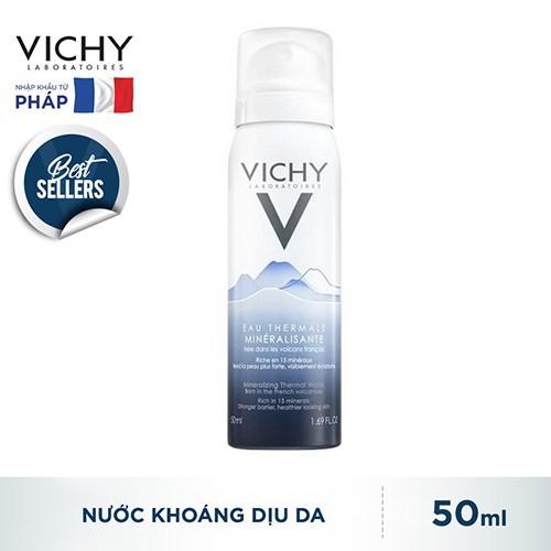 Vichy Chính Hãng- Xịt khoáng dưỡng da Vichy Mineralizing Thermal Water 50ML