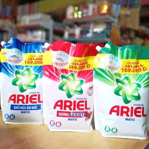 Sp chính hãng  🎀mới nhất 🎀 nước giặt ariel túi lớn  3,6kg.