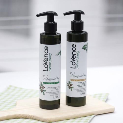 Combo dầu gội và dầu xả phục hồi tóc hư tổn lovence nourishing 480ml