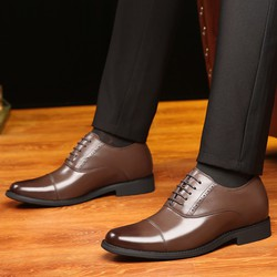 Giày tây nam thắt dây Oxford New One Nâu - big size, size lớn