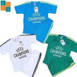 FREESHIP Combo 3 bộ đồ quần áo thể thao bóng đá trẻ em, vải thun mè thoáng mát co giãn tốt cho bé trai và gái vui chơi mùa hè có 3 màu khác nhau chuẩn nhiều size từ 16-46kg - Set 3 bộ đồ đá banh- LOSI - LSCLXDTRXR
