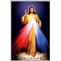 Tranh thêu chữ thập lòng thương xót Chúa-X8030