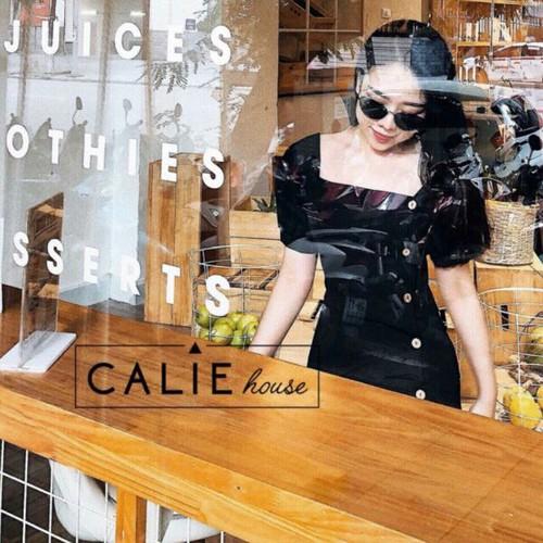 Đầm đen cổ vuông- kèm hình thật