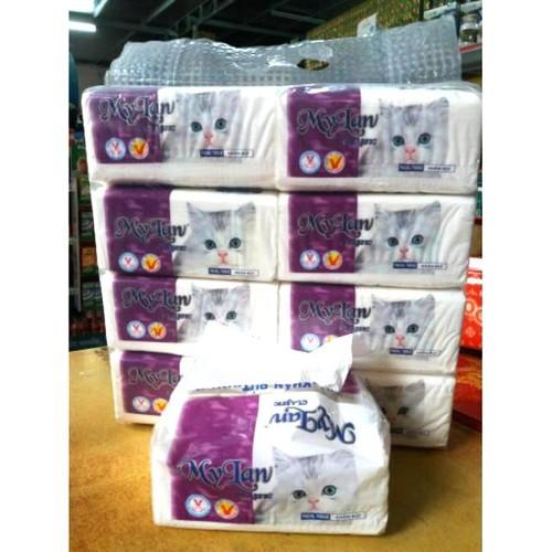 Sp chính hãng  giấy rút mèo my lan bịch 8 gói  150 tờ x 3 lớp  .