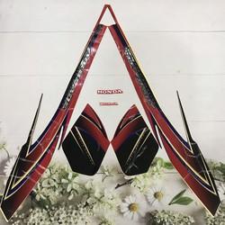 Bộ tem 3 lớp airblade đời 2008 - 2009 Việt Nam - màu Đỏ