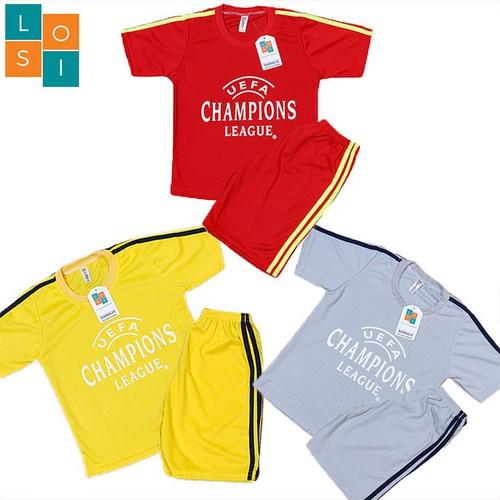 Freeship combo 3 bộ đồ quần áo thể thao bóng đá trẻ em, vải thun mè thoáng mát co giãn tốt cho bé trai và gái vui chơi mùa hè có 3 màu khác nhau chuẩn nhiều size từ 16-46kg - set 3 bộ đồ đá banh- losi - 12276206 , 20384000 , 15_20384000 , 248000 , Freeship-combo-3-bo-do-quan-ao-the-thao-bong-da-tre-em-vai-thun-me-thoang-mat-co-gian-tot-cho-be-trai-va-gai-vui-choi-mua-he-co-3-mau-khac-nhau-chuan-nhieu-size-tu-16-46kg-set-3-bo-do-da-banh-losi-lscldova
