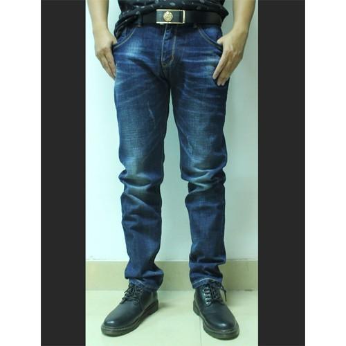 Quần jeans namxanh đậm mài ống côn - quan jeans nam 30
