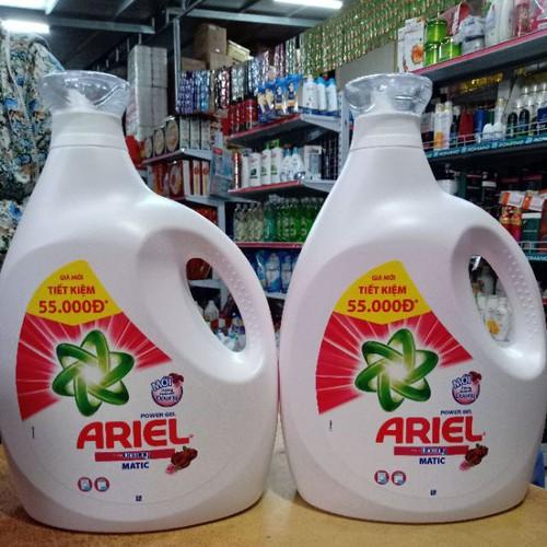 Sp chính hãng  combo 2 chai nước giặt ariel 3.8kg.