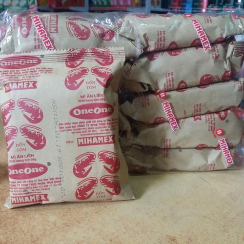 Sp chính hãng  bịch 10 gói mì ăn liền one one vị tôm .