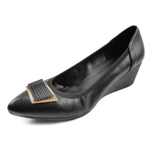 Giày cao gót nữ da siêu mềm đế xuồng 5cm vnxk 5p17d