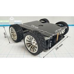 Xe robot 4 bánh động cơ kim loại 370