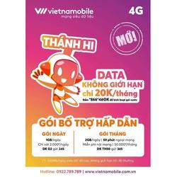 Sim Vietnamobile THÁNH HI - Không giới hạn data