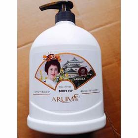 Sữa tắm cô gái Nhật SAKURA BODY VIP ARUM chai 1200ml - trắng
