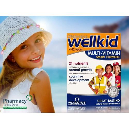 Vitamin tổng hợp wellkid 30 viên dành cho trẻ từ 4- 12 tuổi