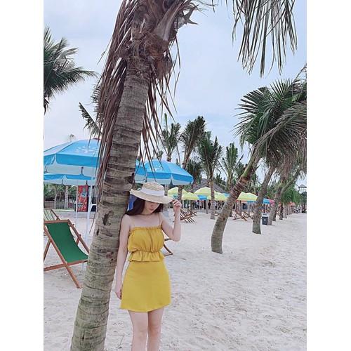 Set hai dây kèm chân váy đi biển - 12033506 , 19647068 , 15_19647068 , 230000 , Set-hai-day-kem-chan-vay-di-bien-15_19647068 , sendo.vn , Set hai dây kèm chân váy đi biển