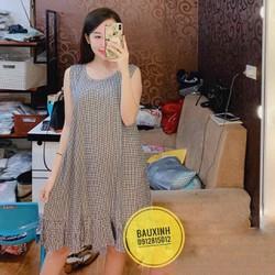 váy lanh bầu big size kẻ sọc thời trang