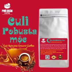 [QUÀ TỪ 1KG] 500gr Cà phê Culi Robusta Mộc Nguyên Chất Buôn Ma Thuột Phú Xuân Coffee - Cà phê rang xay mộc pha phin pha máy