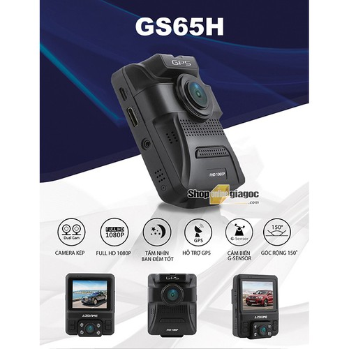Camera hành trình gs65h hiển thị tốc độ