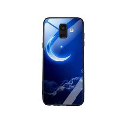 Ốp Lưng cho điện thoại Samsung Galaxy A6 - Mặt Kính Cường Lực -  0220 MOON01