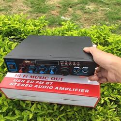 Amply mini bluetooth karaoke BT-309A loại cao cấp tặng kèm dây 12v, áo thẻ nhớ, ship toàn quốc