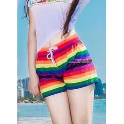 quần đôi đi biển kẻ ngang dành cho nữ